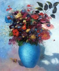 パステル調の色彩鮮やかな花の作品