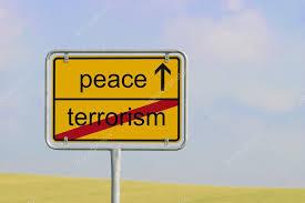 平和と記された看板