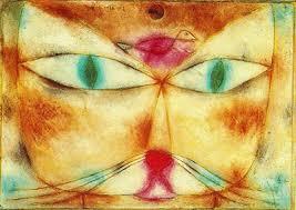 ネコの顔が描かれた作品