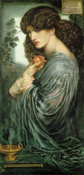 ロセッテイが描いた女性プロセルピナ