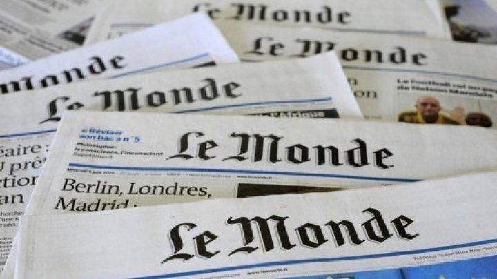 ル・モンドの紙面の写真