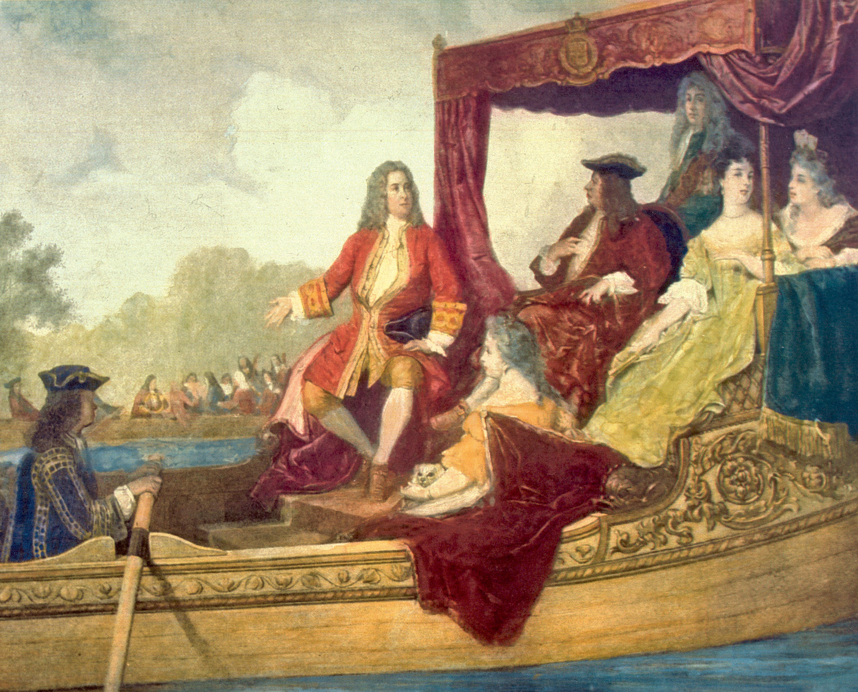 テムズ川で舟遊びをする様子を描いた絵画