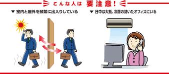 冷房病にかかりやすい人の特徴をまとめた図