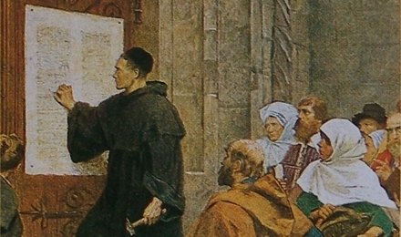 ルターらによる宗教改革の様子