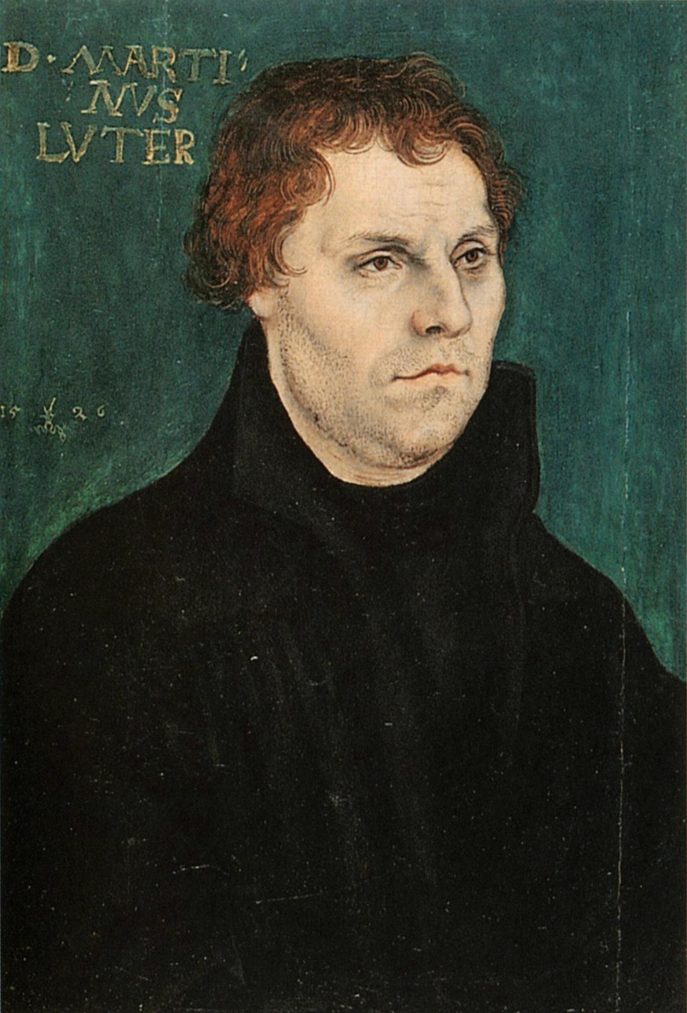 クラーナハが描いたルターの肖像画