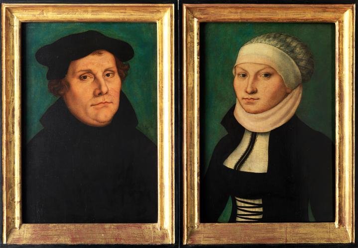クラーナハが描いたルター夫妻の肖像画
