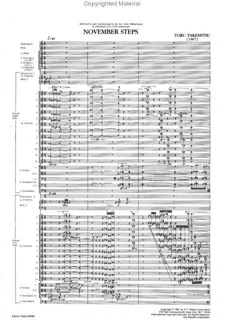 ノヴェンバー・ステップスの楽譜