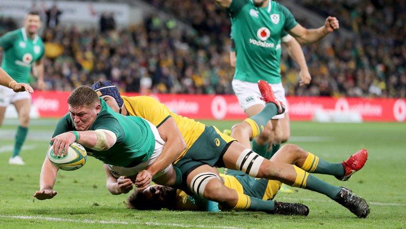 アイルランドとオーストラリアの試合の写真