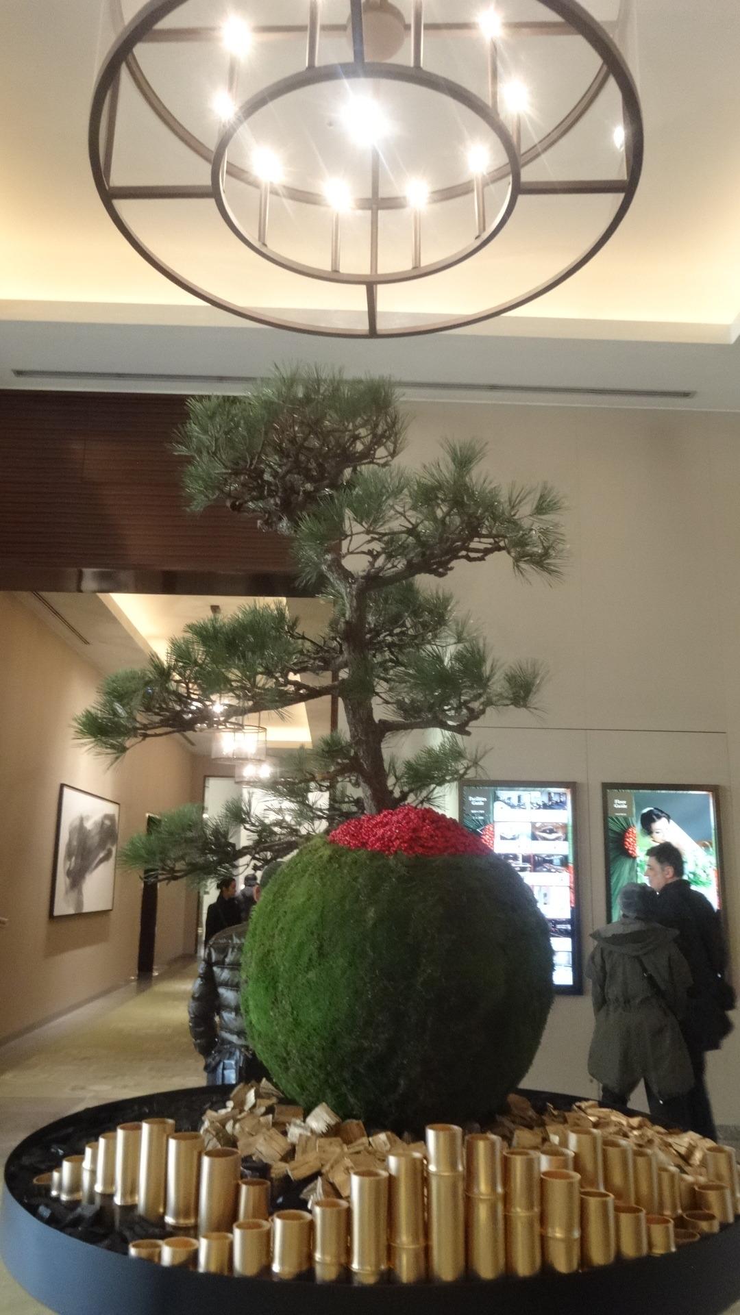 ホテルのお正月のデコレーション