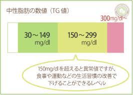 血中中性脂肪値が示す意味をまとめた図