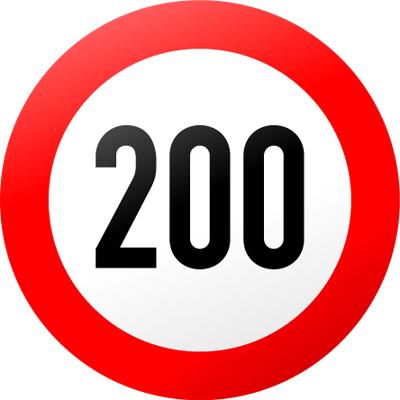 200をリミットとするサイン