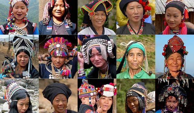 少数民族の人々の笑顔