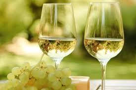 白ワインが入ったグラスの写真