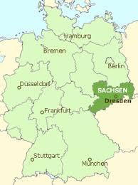 ドイツのザクセン地方を示す地図