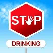 膵炎の悪化防止のために禁酒を強く訴えるポスター