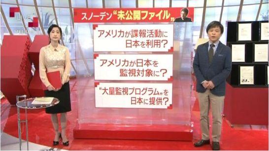 特集を報道するテレビ番組の画面