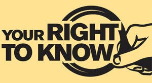 市民の知る権利について説明するポスター