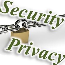セキュリティーかプライバシーかを問うポスター