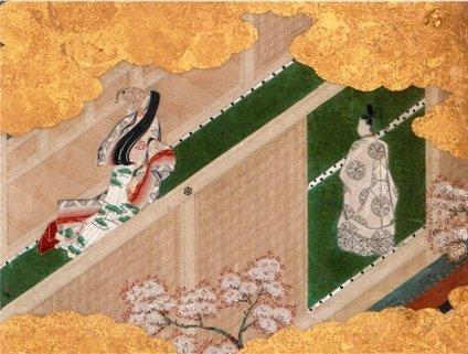 平安時代の宮中の様子が描かれた日本画
