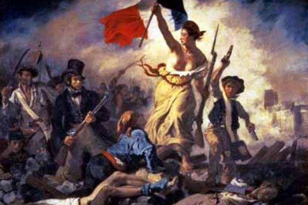 革命の勝利を喜ぶ人たち