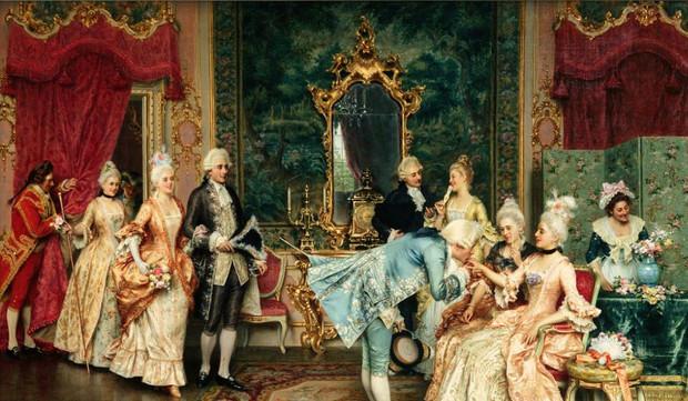 ベルサイユ宮廷の様子を描いた絵画