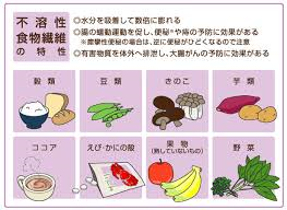 不溶性食物繊維の特徴をまとめた図