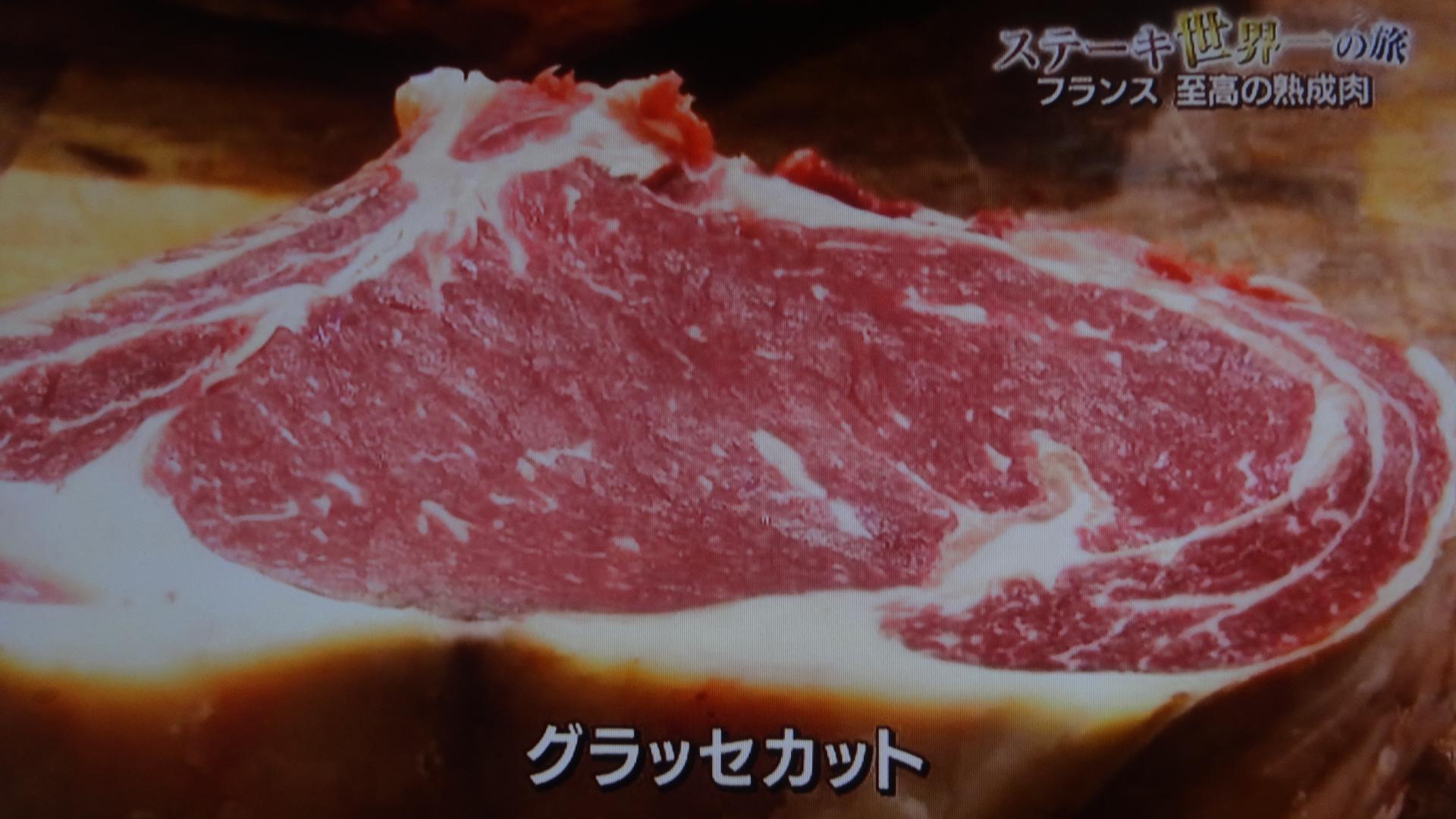 グラッセカットされた肉