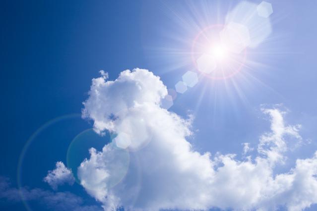 光輝く太陽