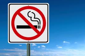 禁煙エリアであることを示す表示