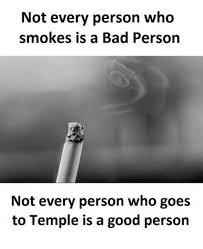 喫煙者が全て悪者ではないと主張するポスター