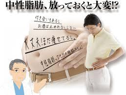 中性脂肪の危険性の注意喚起をするポスター