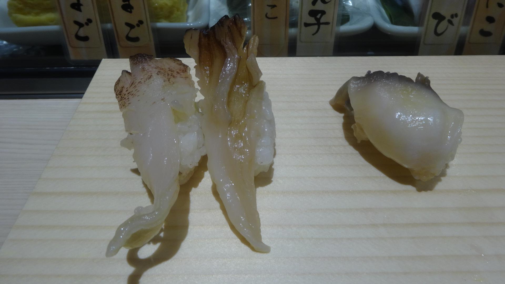 ホッキ みる貝 赤貝 とり貝の握りの写真