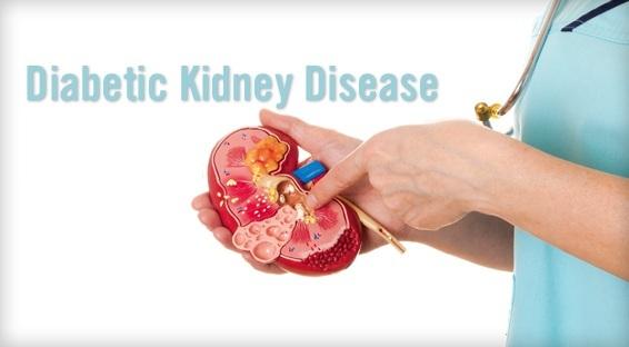 糖尿病性腎臓病 Daibetic kidny disease : DKDについて説明する図