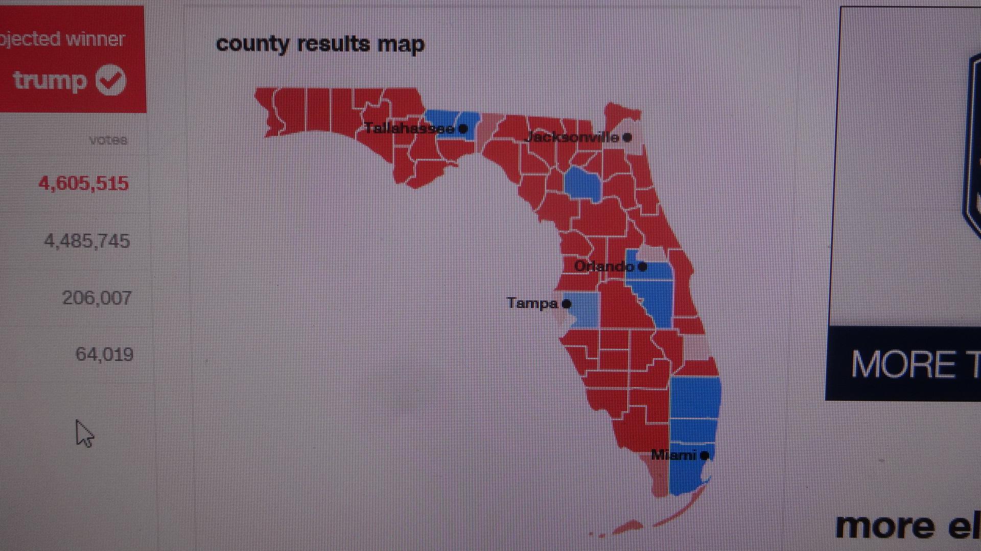 赤に染まっていくアメリカの地図