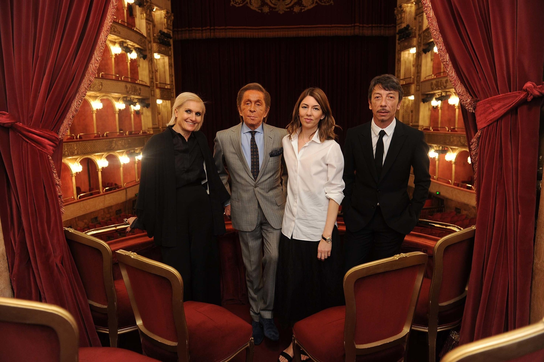 ローマ歌劇場でのソフィアとヴァレンチノ