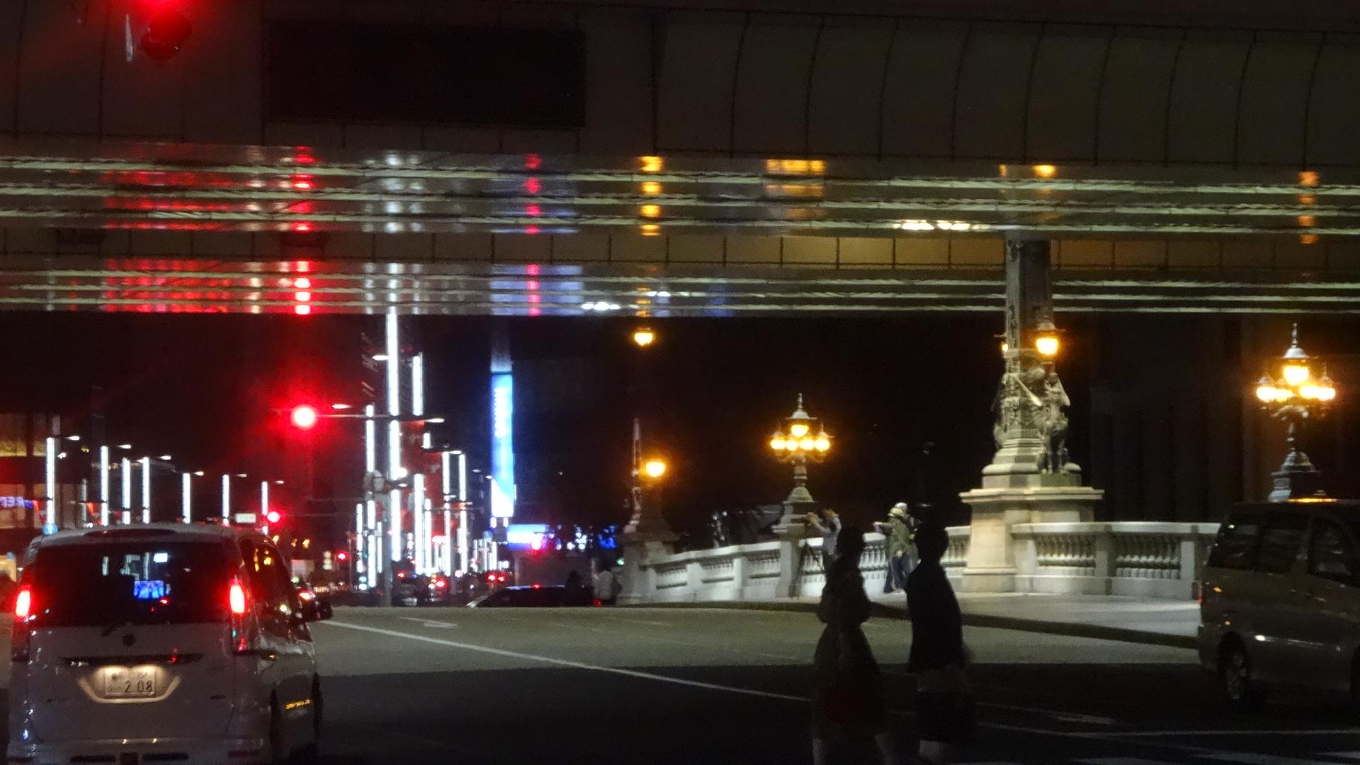 日本橋のライトアップ