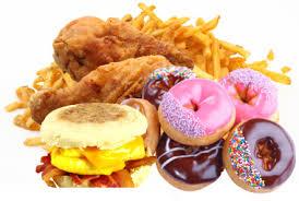 ドーナツなどの脂肪をたくさん含む食品