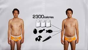 実験前と実験中の体形の比較写真