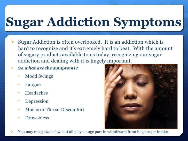 砂糖中毒の離脱症状をまとめた図