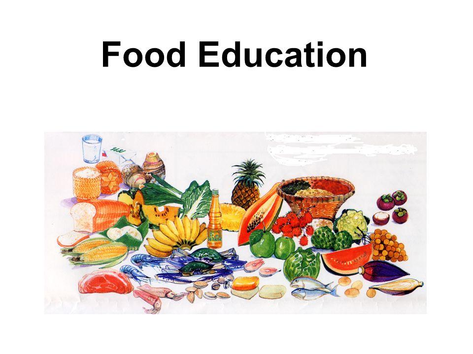 食の教育の重要性をアピールするカード