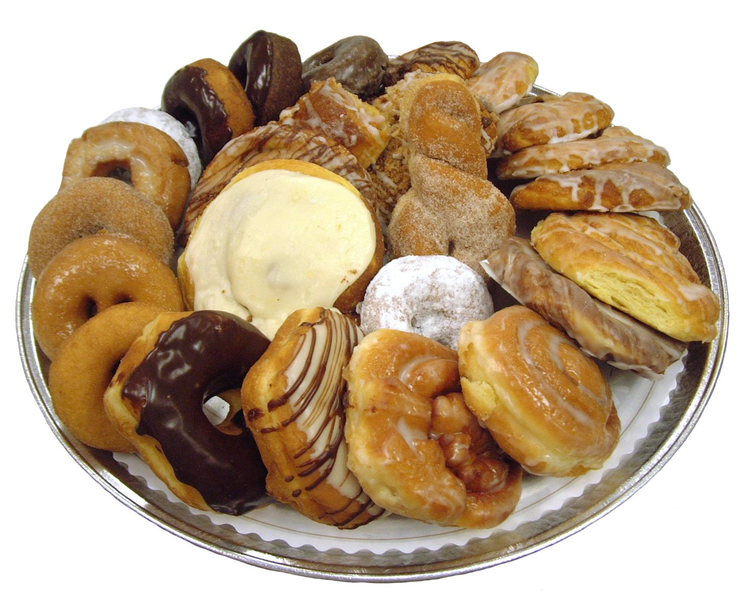大量の甘いパン ドーナツの写真