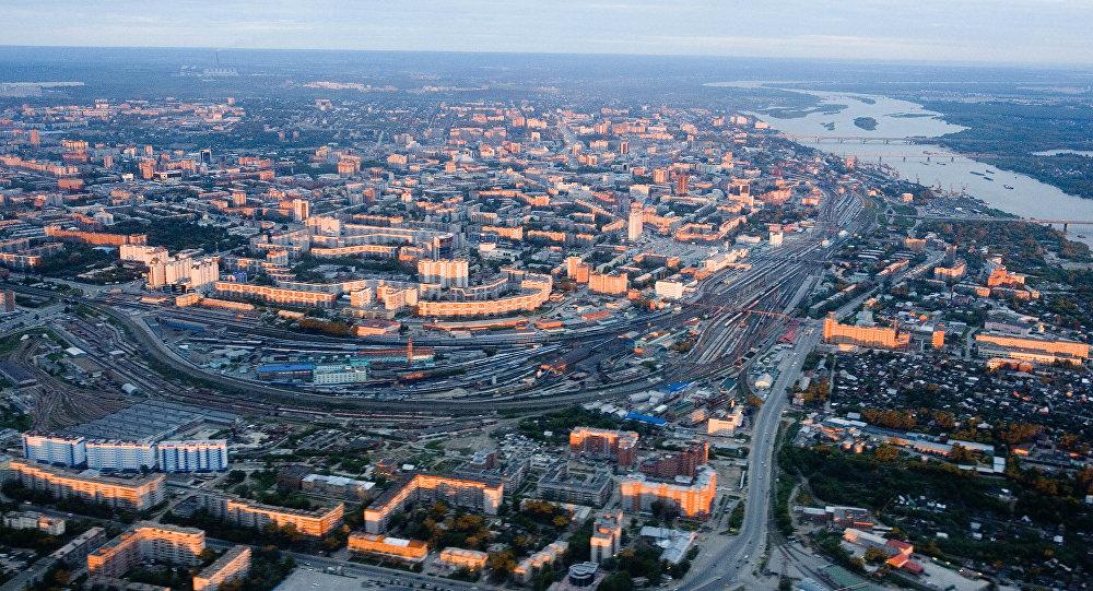 ノヴォシビルスクの街の全景