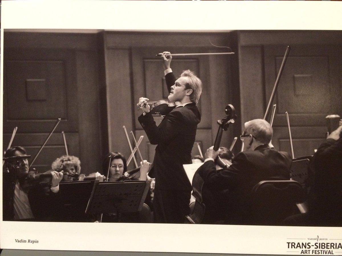 レーピンさんのヴァイオリン・ソロの様子