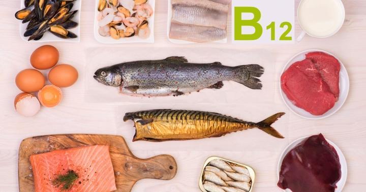 ビタミンB12が多く含まれている食品をまとめた図