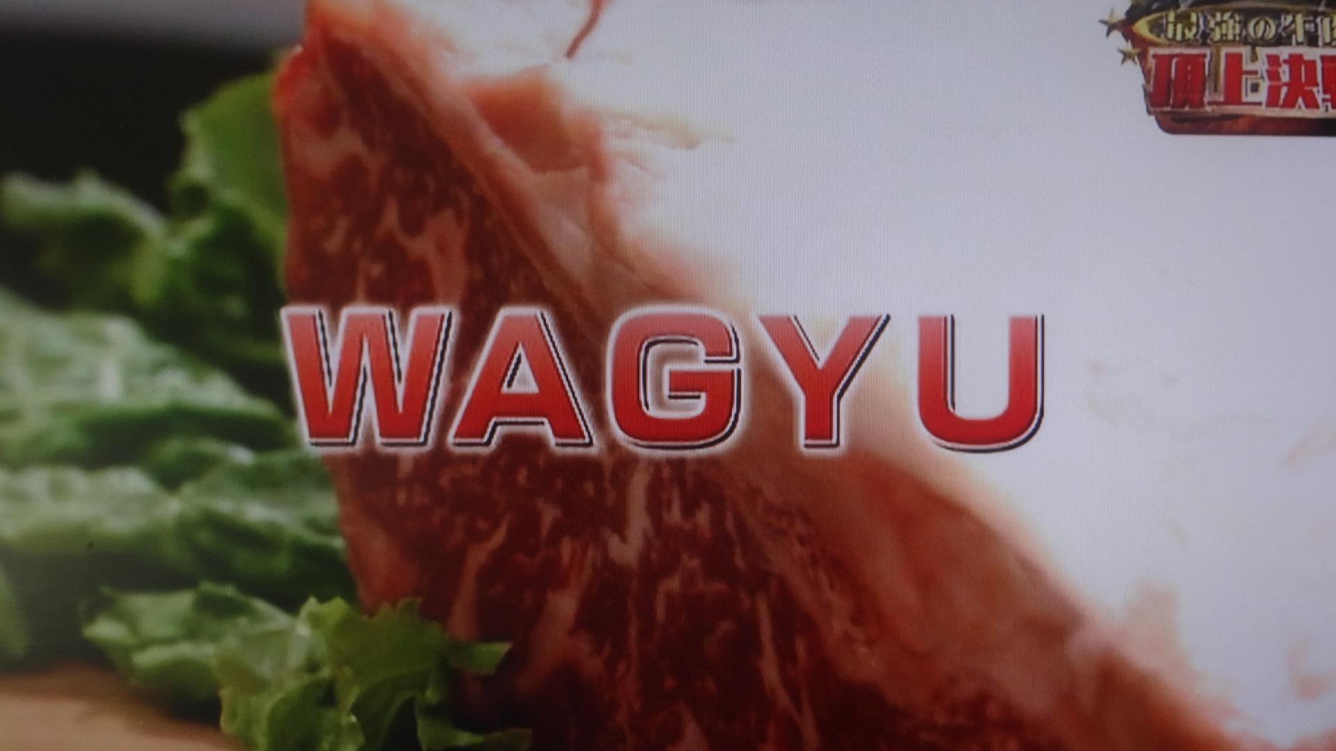 WAGYU番組の画面
