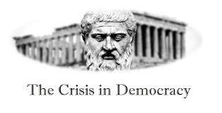 民主主義の危機を訴えるポスター