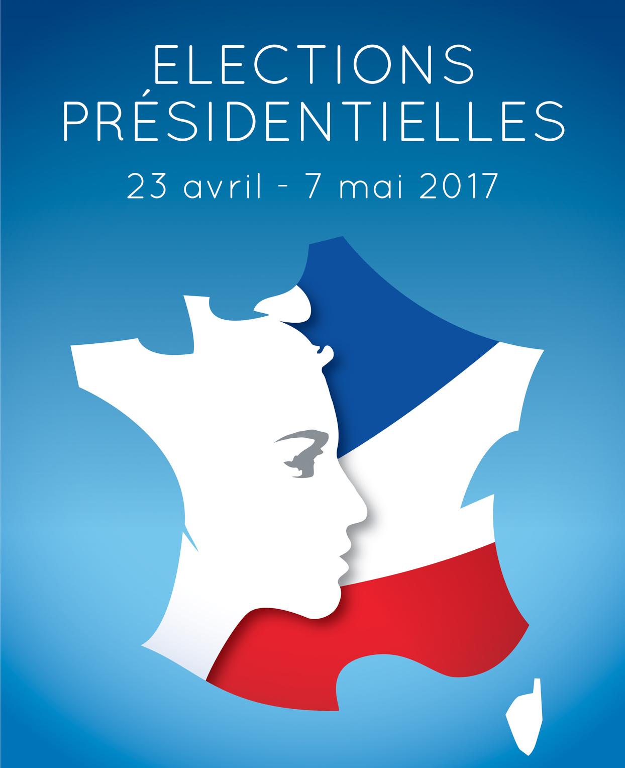 フランス大統領選挙のポスター
