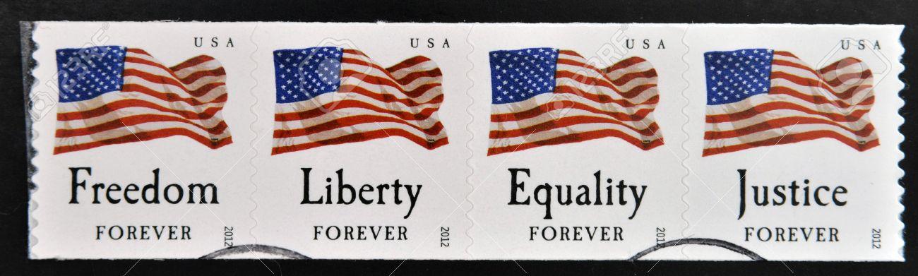 自由と平等を貴ぶアメリカの気風を示す図