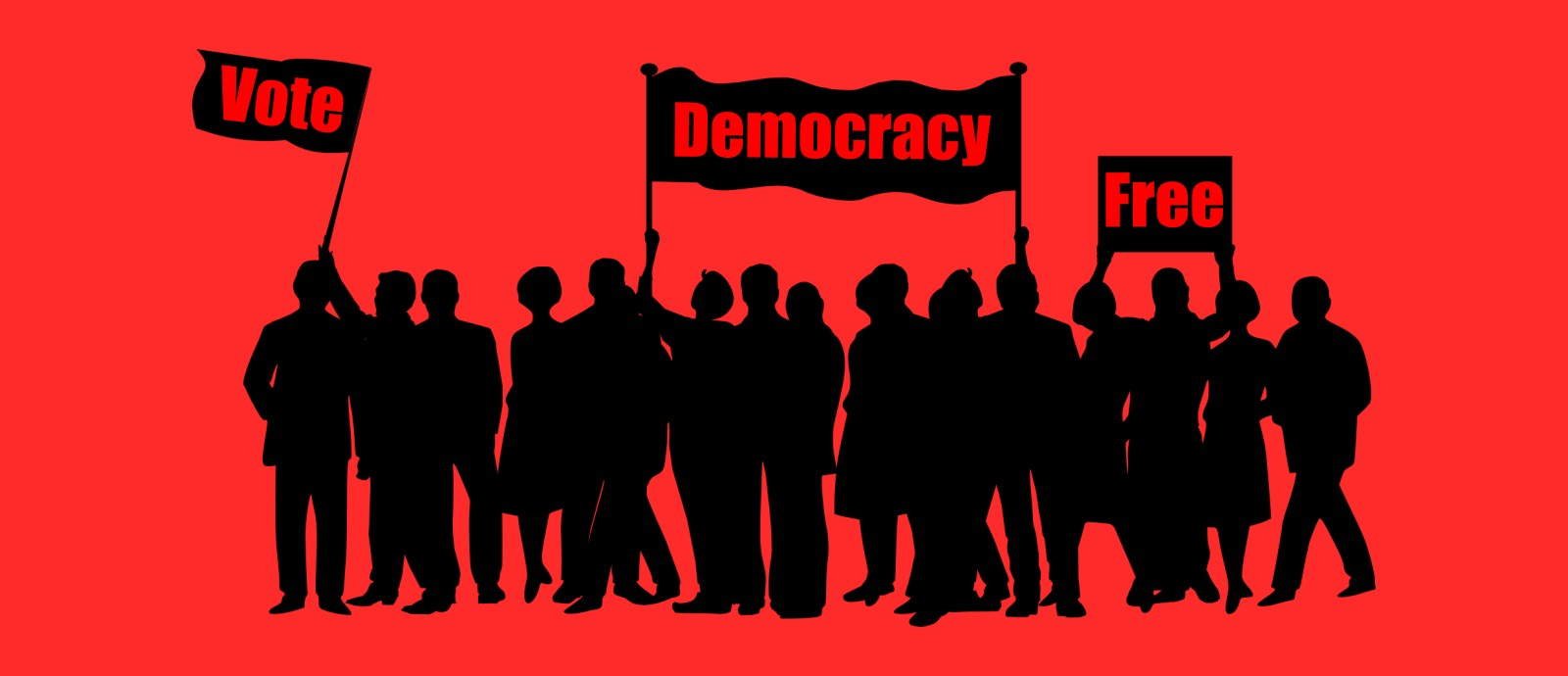 民主主義の平等性をアピールするポスター