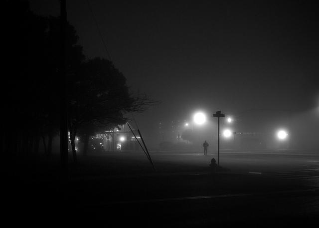 見通しの効かない霧のなかでもがく人